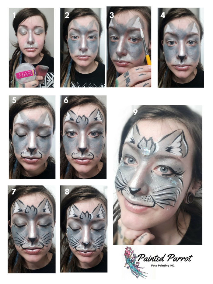 Step By Step Cat Face Paint : paint, Painting, Tutorial, (courtesy, Painted, Parrot, Painting), Edmonton, International