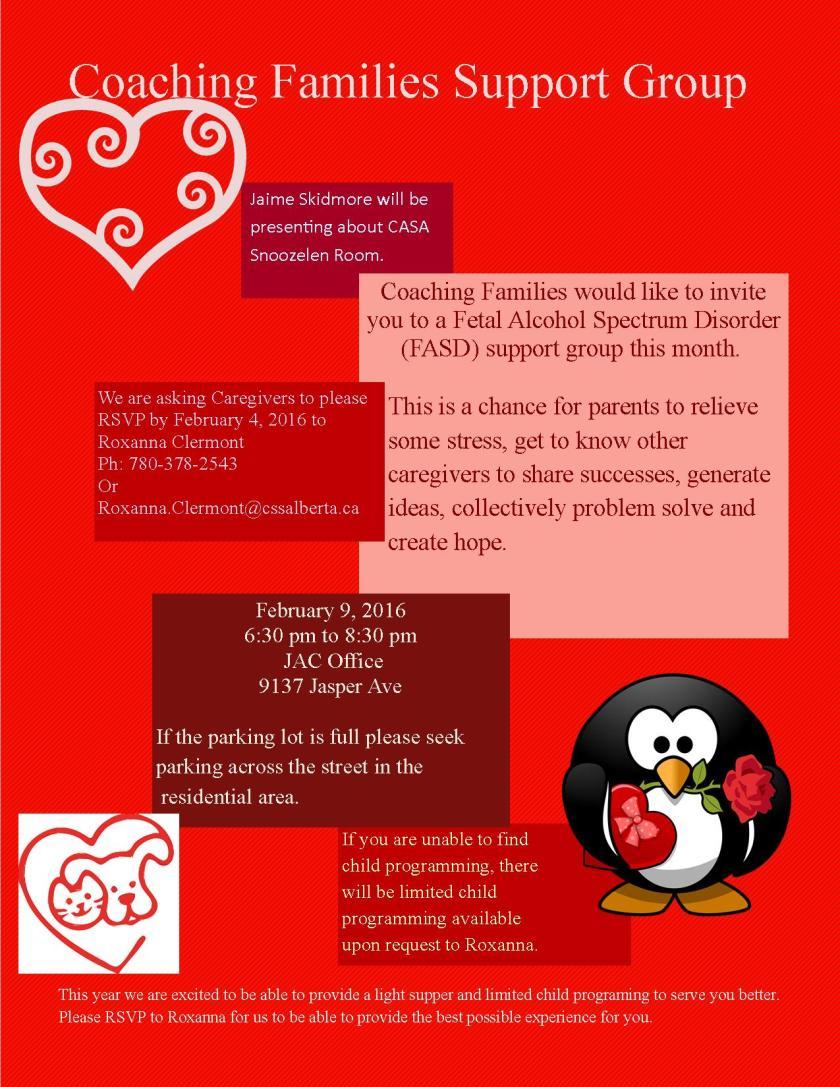Coaching Families - February 2016 Flyer