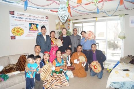 A Bhutanese gathering.