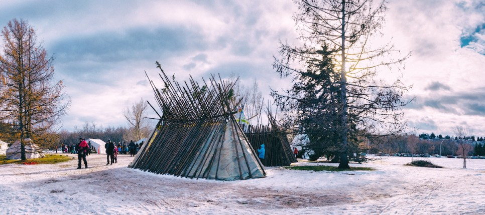 Silver Skate's Indigenous Heritage Village Project. Photo: Marc J. Chalifoux