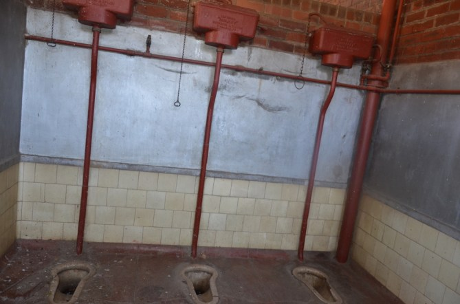 Ablution system used by workers.