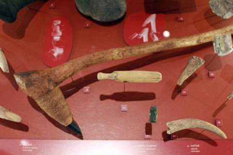 Artifacts at c̓əsnaʔəm, the city before the city. Courtesy of the Museum of Vancouver.