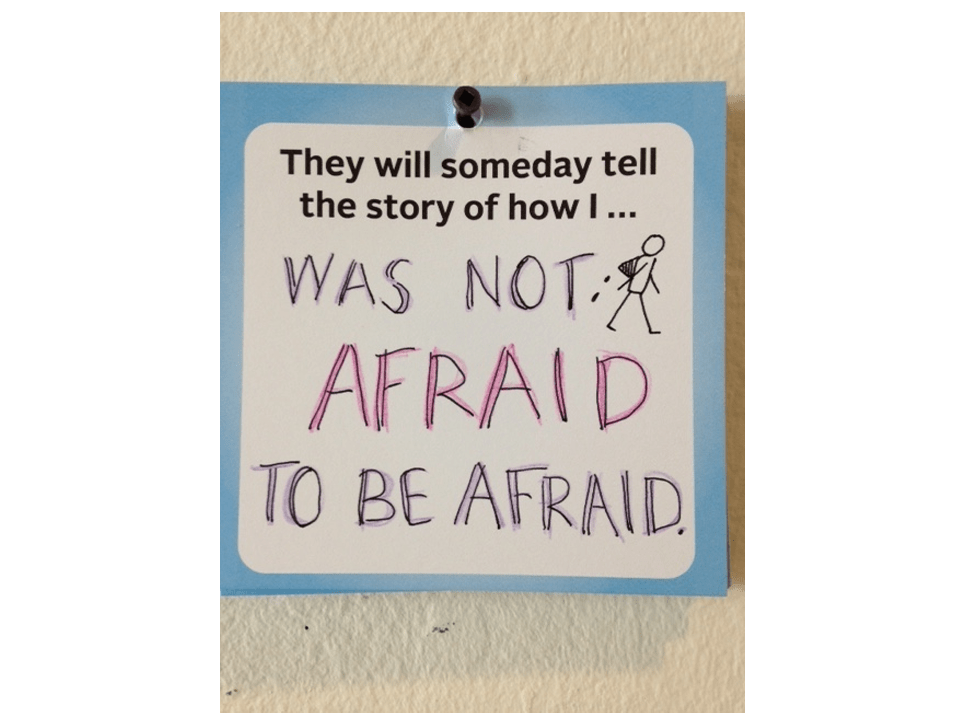 Not Afraid to be Afraid. © Beck Tench