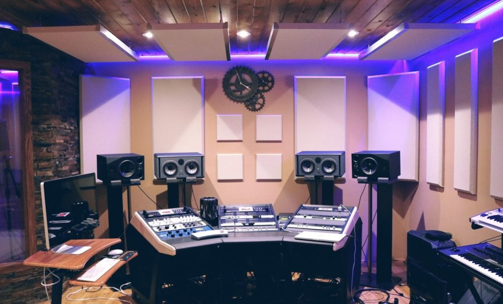 acoustic treated studio
