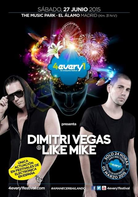 dimitri-vegas-4every1 Dimitri Vegas & Like Mike en España con 4EVERY1