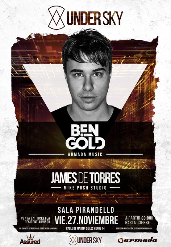 Cartel-Under-Sky-EDMred2 Tranceros, nace UNDER SKY en Madrid con Ben Gold