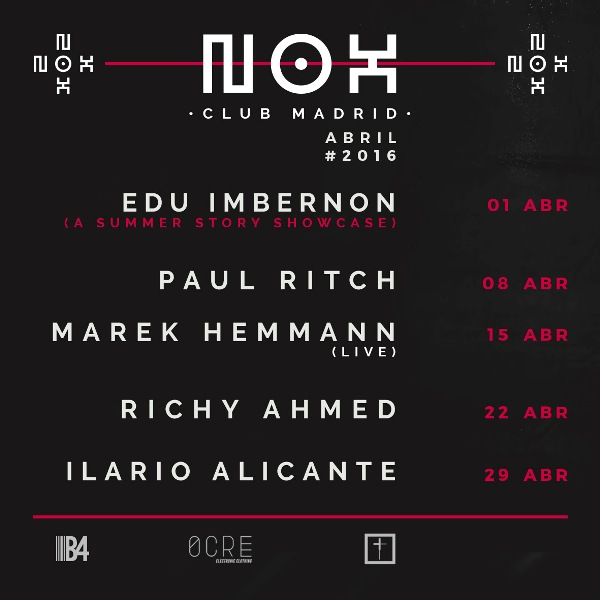 Nox-club-madrid-abril-EDMred Nox Club con Edu Imbernon y Paul Ritch en abril