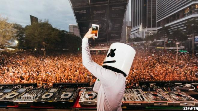 Marshmello Ultra Music Festival EDMred