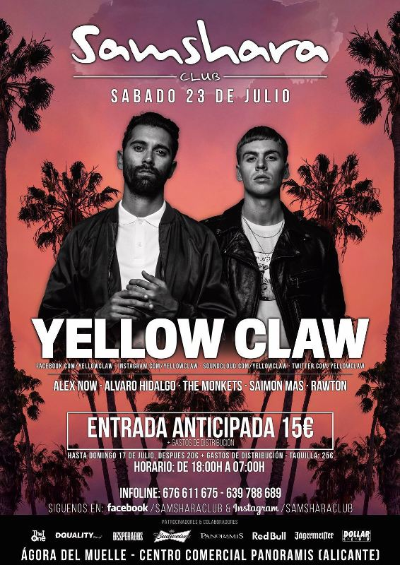 Yellow-Claw-Alicante-EDMred Yellow Claw en Alicante
