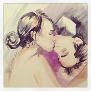 Upsidedown kiss 1