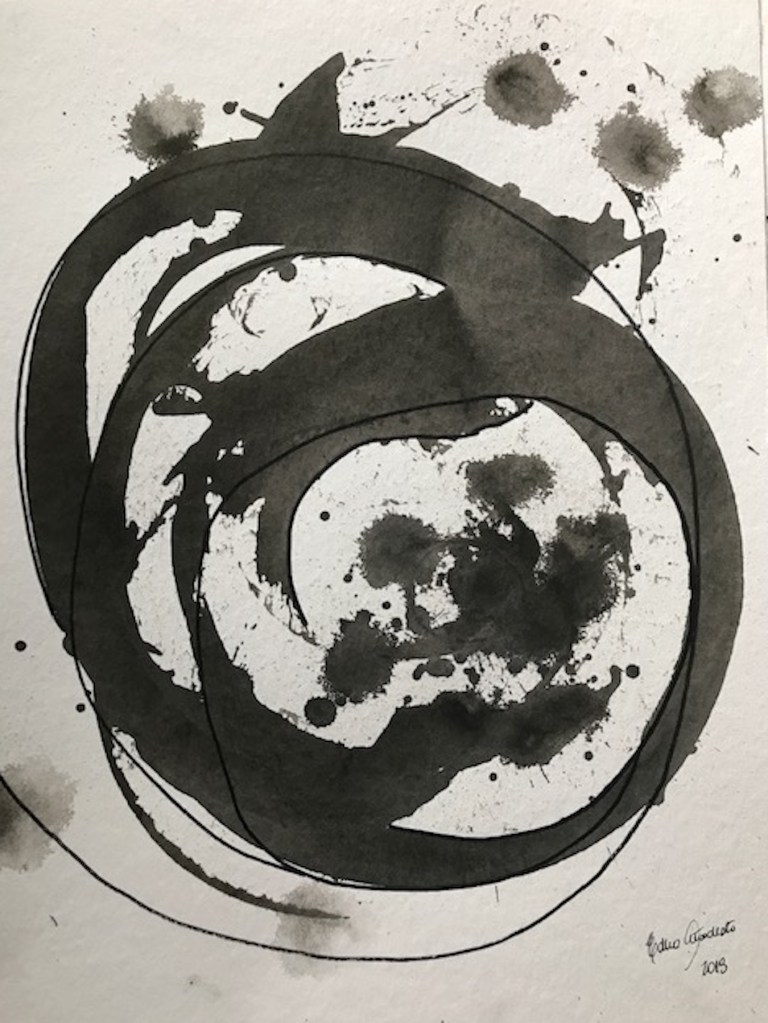 círculo_Nanquim sobre papel_Edna Carla Stradioto_2018
