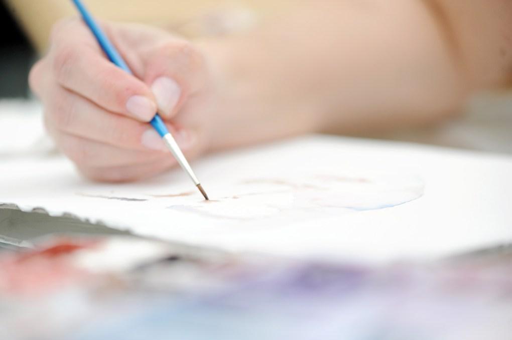 Edna Carla Stradioto aquarela godet mão pintando