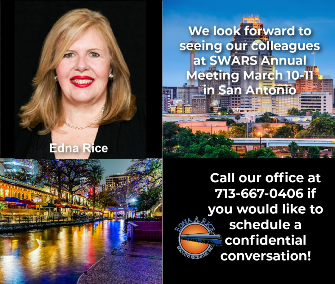 Edna A Rice to attend SWARS Annual meeting in San Antonio, Texas in March!