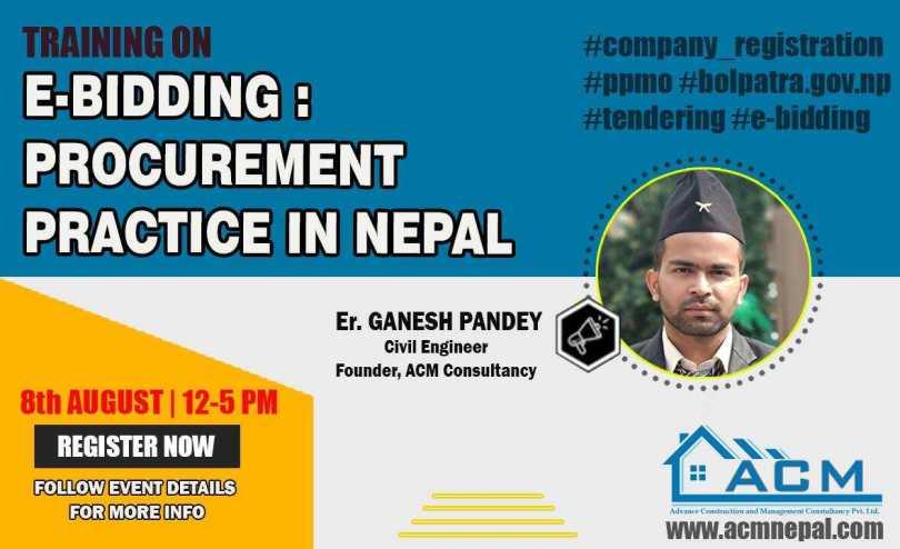 Training on E-bidding by Er. Ganesh Pandey (ACM Institute)