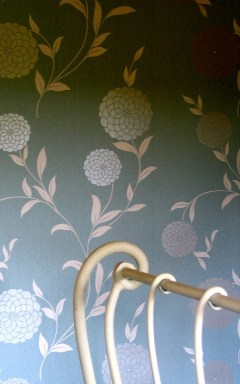 Delighful Laura Ashley wallpaper in the Apricot bedroom