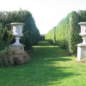 A long vista through the Italian Garden at Ednovean Farm