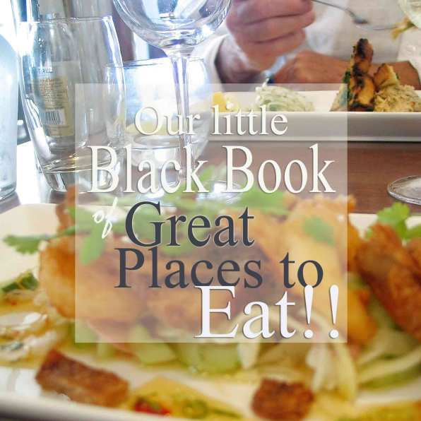 Little black book of great places to eat