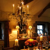 Dining room by candle light