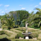 Parterre and fountain