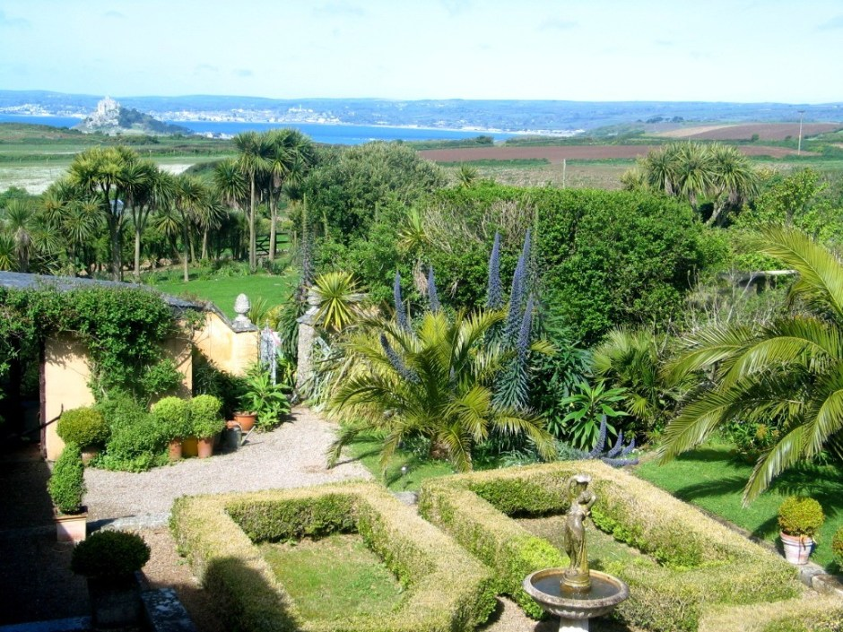 Ednovean Farm courtyard above Mounts bay