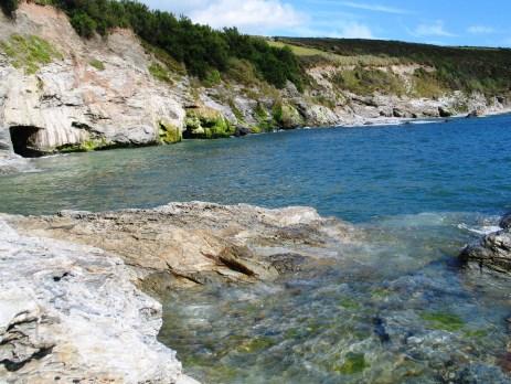 Incoming tide to a Cornish cove
