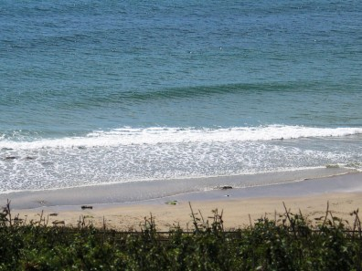 Trebarvah beach exposed at low tide