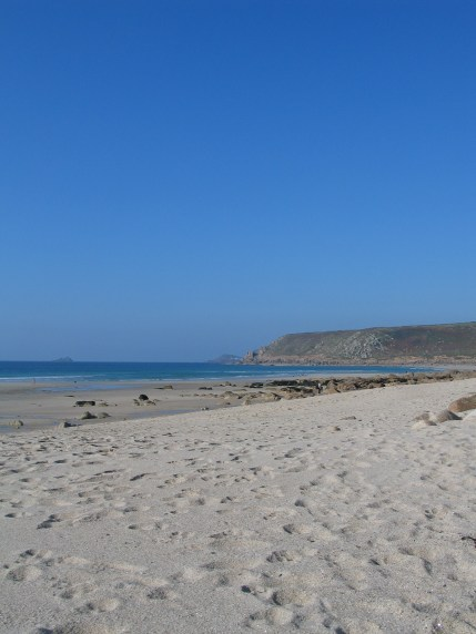 Blue sea and sky in cornwall