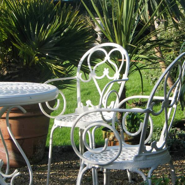 Tables and chairs just waiting for summer to come around again