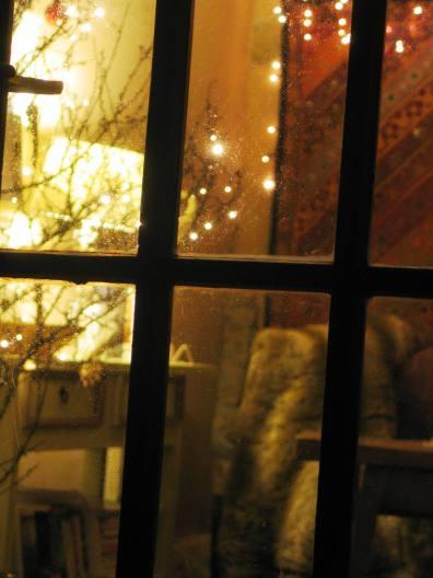 Looing through a window to Christmsas
