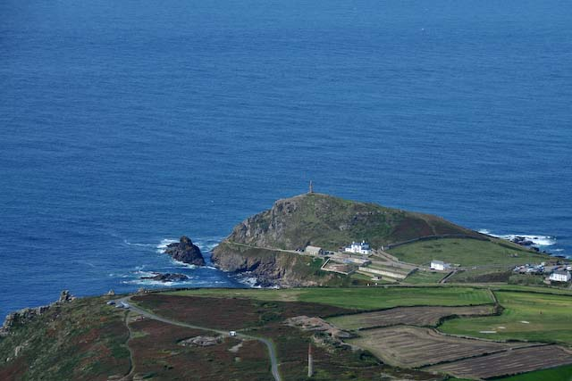 Cape cornwall from the sky