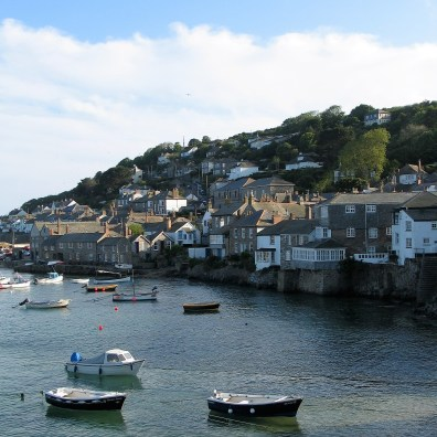 The pretty village of fisherman's cottages clinging to the hillside
