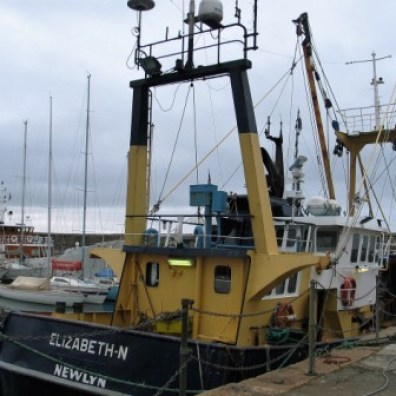 Trawlers in Penzance harbour