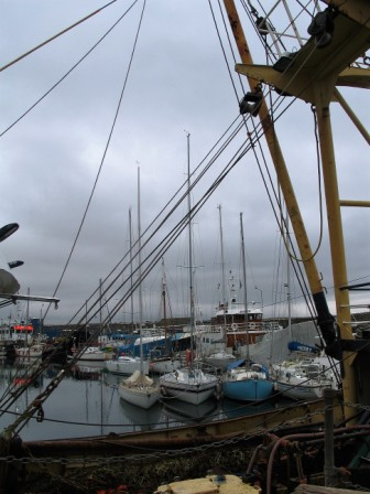 Sailing boats in penzance harbour