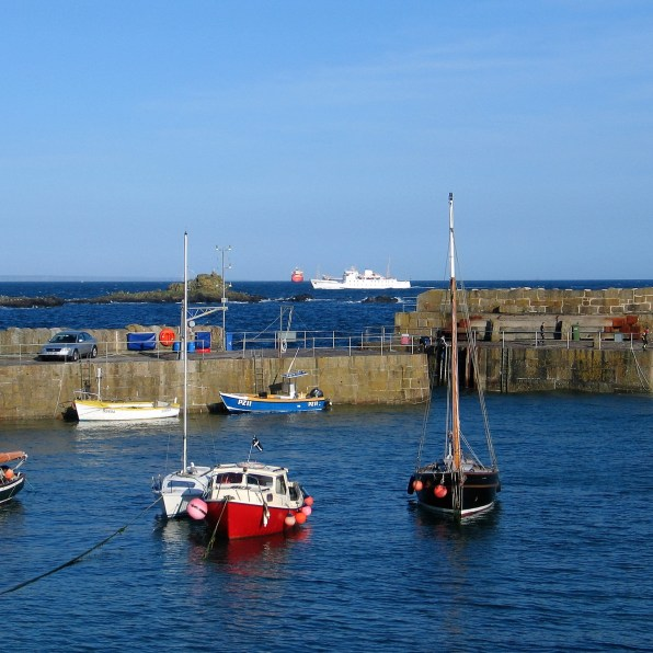 Scillonian passing Mousehole harbour