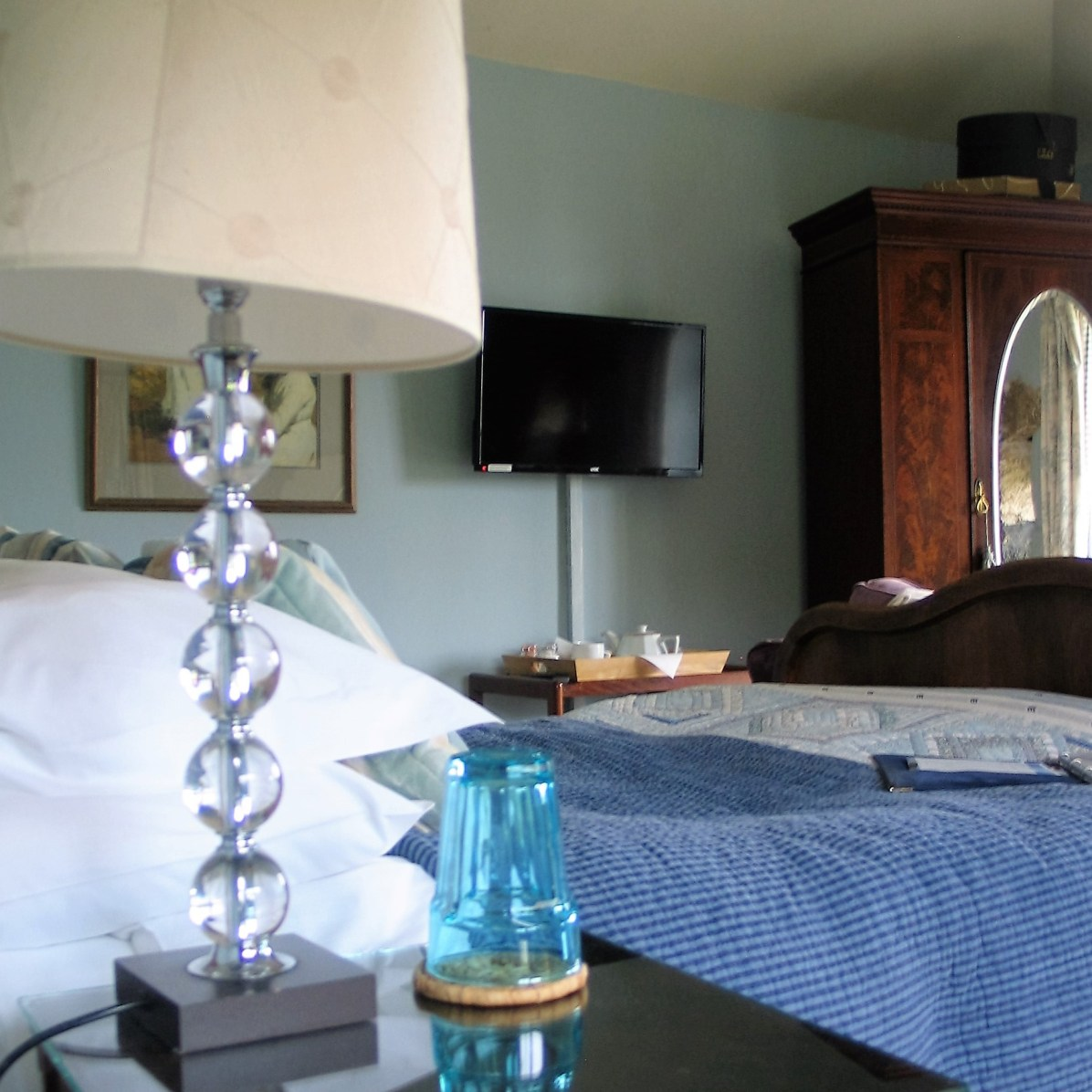 Each bedroom has a colour TV and DVD
