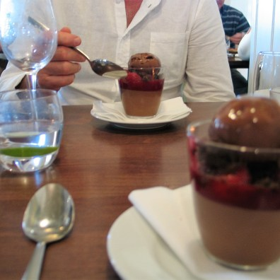 Just had to eat pudding at the square for our silver wedding outing