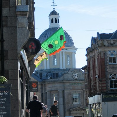 I walket down through the Green market in Penzance