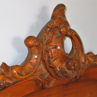 walnut french bed detail