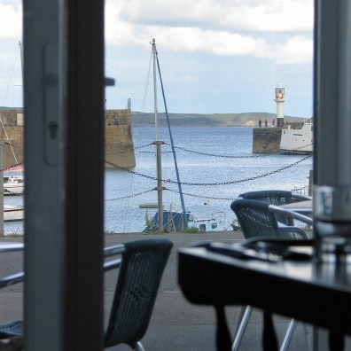 We had a great view over Penzance harbour from our table at the Old Lifeboat House