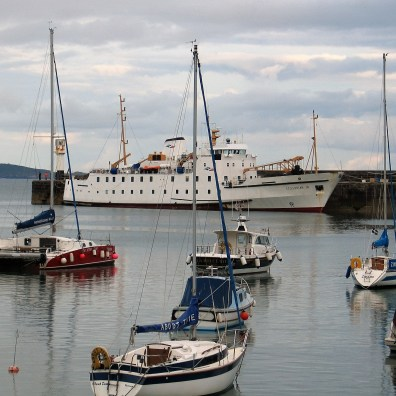 The Scillonian in Penzance harbour after her trip to the Scilly Isles