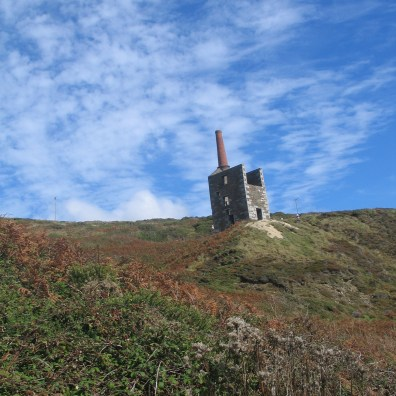 Wheal Prosper engine house a typical ruin from cornwall's mining past