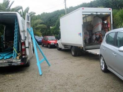props vans in teh ednovean farm car park