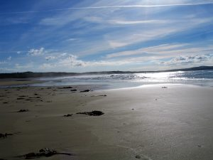 The long expanse of sands seems endless at low tide at Godrevy