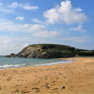 Gunwalloe Cove and headland