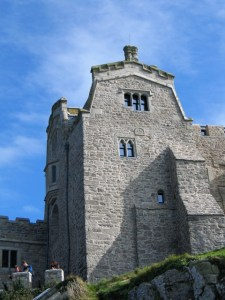 Tall forbidding walls - St Michael's Mount