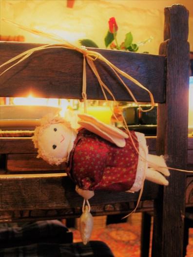 Plump fabric fairy chair decoration