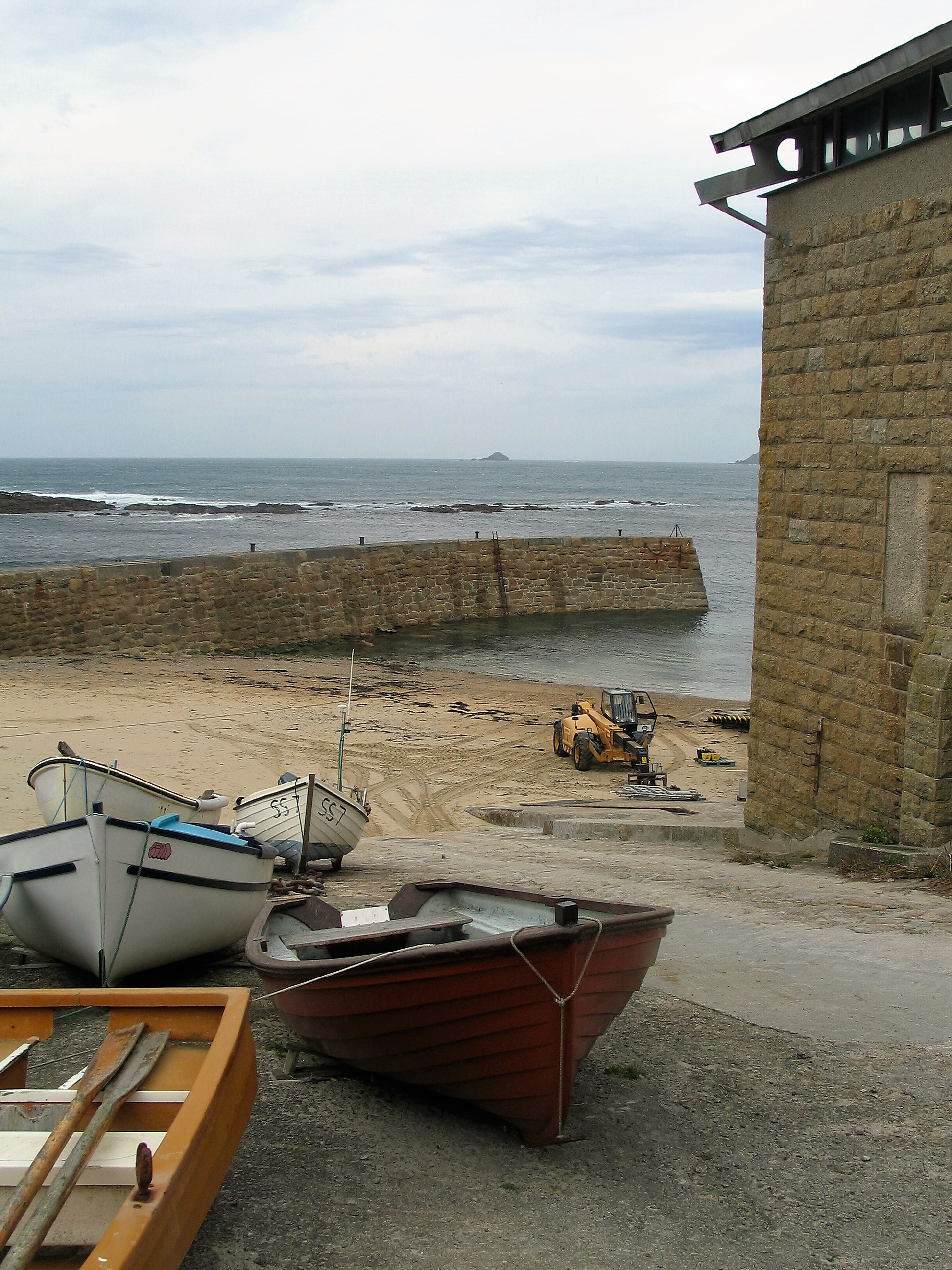traditional fishing harbour sennen