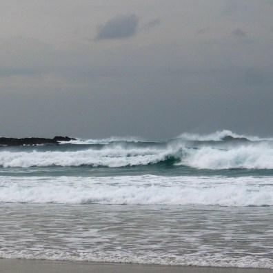 Stormy seas breaking on the beach