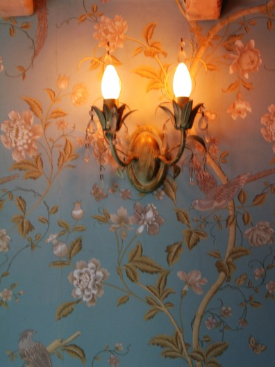 Summer Palace wallpaper in Duck Egg blue