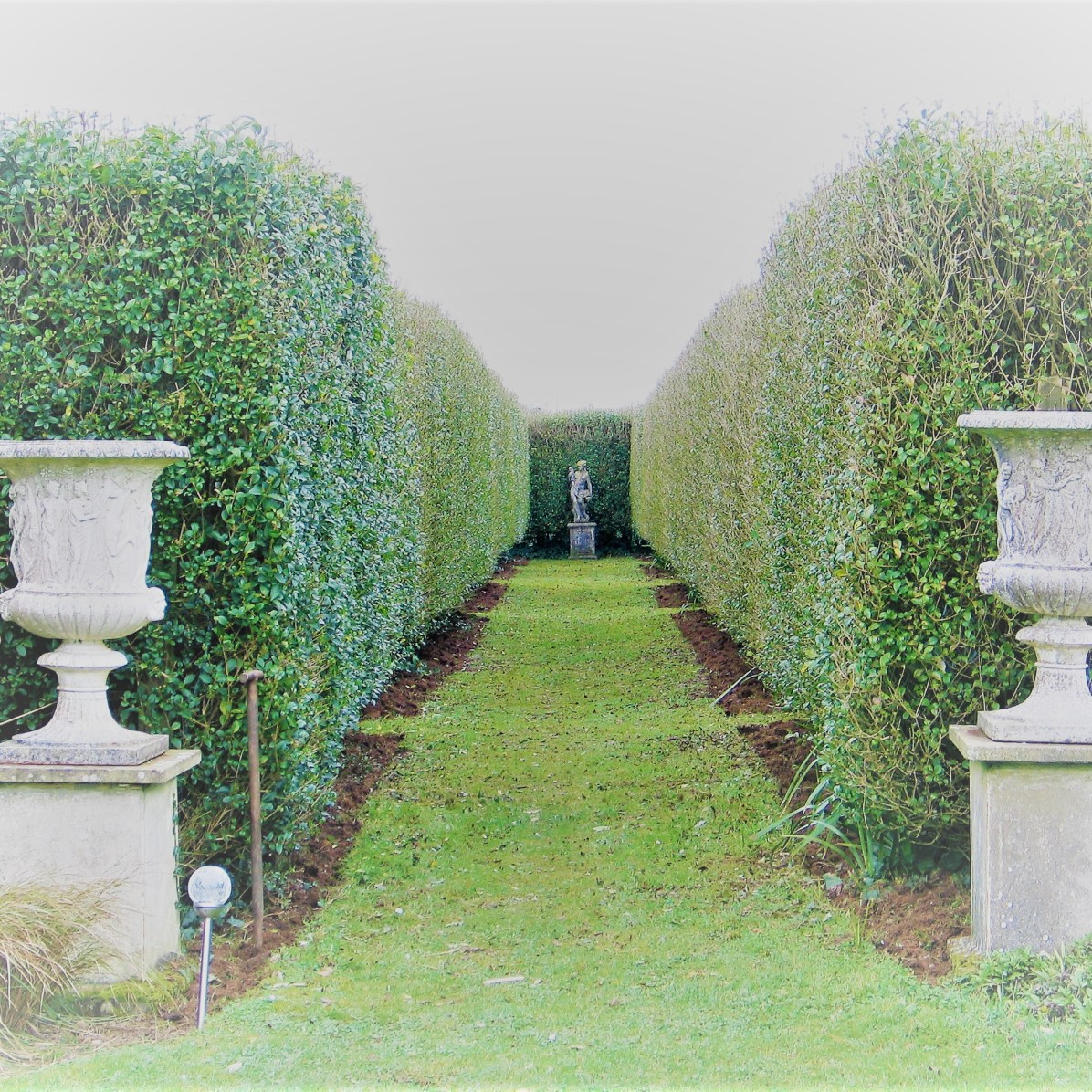 Main entrance - February in the Italian Garden